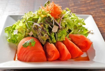 Salad with Tomato and Cheese (Yuzu dressing)