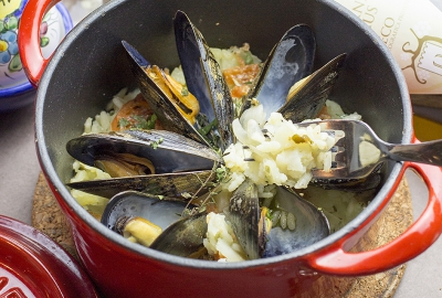 Tiella Mussels(Italian cooked Rice)